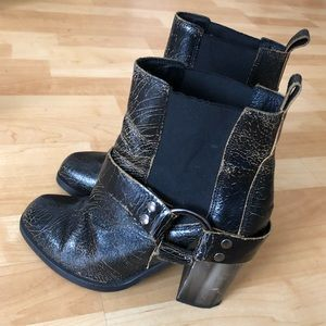 All Saints Aiden Boots cracked leather